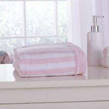 CLAIR DE LUNE CANDY STRIPPED KNITTED SOFT BLANKET KIDS BABY THROW COT PINK