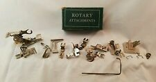 Rotary Attahments Box with Mixed Attachment pieces Greist Singer Sewing Vintage