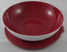 Tupperware C 151 Allegra 1,5 l Schüssel Rot / Weiß Deckel mit Lasche Neu OVP
