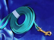New Teal Blue Palomine 15 foot leash nosework dog tracking herding Long lead