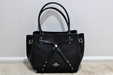 NWT COACH TURNLOCK TIE LARGE TOTE IN REFINED PEBBLE LEATHER 35160 MSRP $475