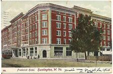 Frederick Hotel in Huntington WV Postcard 1909