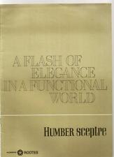 HUMBER SCEPTRE A FLASH OF ELEGANCE IN A FUNCTIONAL WORLD BROCHURE