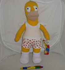 SIMPSONS Stupendo Peluche HOMER IN BOXER 30cm Originale Ufficiale UNITED LABELS