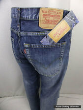 LEVIS MENS JEANS 518 W 34 L 32 BOOTCUT BUTTON FLY DISTRESSED DENIM EUROPE P10