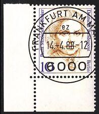 32) Berlin 10 Pf. Frauen  806 Eckrand Ecke 3 E3 EST Frankfurt m Gummi Perfekt