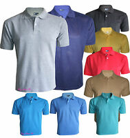 Men's T-Shirts Loose Fit PK Polo Plain Cotton Tops Casual Shirts Size S to 6XL