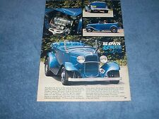 "1932 Ford Roadster Tub Vintage Street Rod Article ""Blown & Blue"""