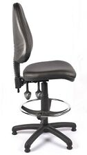 VINYL HIGH BACK OFFICE LAB BLACK DRAUGHTSMAN CHAIR