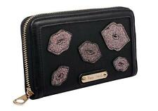 New Anna Smith Womens Ladies Designer Glitter Black Purse Clutch Wallet P109