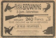 Y7407 Fusil BROWNING 5 Coups Automatique - Pubblicità d'epoca - 1906 Old advert
