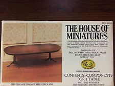 RARE 1/12 CHIPPENDALE DINING TABLE 40045 HOUSE OF MINIATURES OPEN COMPLETE