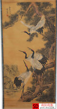 Chinese Collection Scroll Painting:Four Cranes