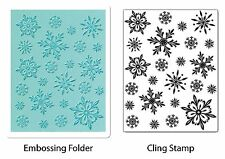 Sizzix Snowflake Background Emboss & Stamp set #658283 Retail $19.99 Retired