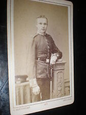 Cdv old photograph military soldier by Kortenkamp at Dresden Germany c1870s