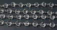 8MM BEAD CRYSTAL STRING GARLAND FOR CHANDELIER PART LOT WEDDING 2Meter