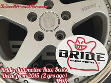 BRIDE HOLDING MONSTER PERFORMANCE RACE SEATS DECAL STICKER