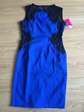 Paper Dolls Blue And Black Bodycon Lace Dress ~ size 8