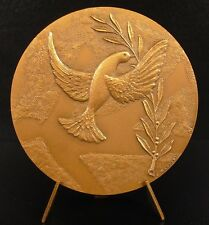 Médaille appel des cent de Paris  la paix la colombe flying dove Peace Medal