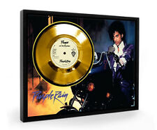 Prince Purple Rain Framed Gold Disc Display Vinyl (C1)