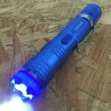 CHEETAH BLUE Alpha Force Stun Gun 10 Million Volt Rechargeable, LED Flashlight