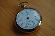 Gorgeous Antique 18S, 17 Jewel, Gold filled Open faced pocket Watch EXC/GWO