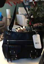 NWT Franco Sarto Black Romy Leather Tote Handbag Purse Bag FREE SHIP!