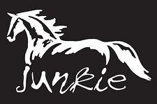 "Horse Junkie 7""  Vinyl Car Truck Window Sticker Decal"