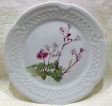 """Louis Lourioux Porcelaine France Wild Flower Canape Plate 5 3/4"""" #2"""