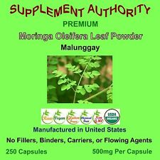 Moringa Oleifera Powder Capsules Organic - 250ct  Economy Bag  Superior Quality!