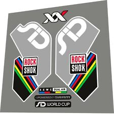 ROCKSHOX SID XX World Cup 2012 Fork Sticker / Decal Set
