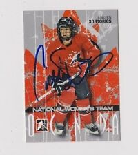 ITG O Canada Colleen Sostorics Team Canada Women's Hockey Autographed Card
