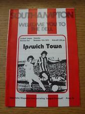 15/12/1973 Southampton v Ipswich Town  (substitutes noted).
