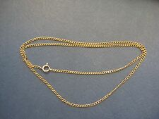 "NICE solid 14K yellow GOLD 2mm Cuban link CHAIN necklace 2mm & 20.5"" long Unisex"