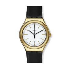 Swatch YWG404 Edgy Time Gold-tone Stainless Steel Case Swiss Made Quartz Watch