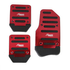 Non-Slip Racing Sport Manual Car Truck Accelerator Brake Pedal Pad Cover Red