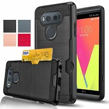 LG V20 Case Credit Card Slots Holder Silicone Rubber Shockproof Eco-friendly New