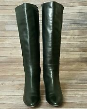 WOMENS VANELI BLACK ITALIAN LEATHER ZIP BOOTS SIZE 9.5 M