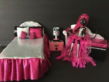 Monster High furniture Bedroom set:Catty Noir.Bed,sofa,lamp,wood Box