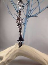 Handmade Dreadlock Dangle Glass Bead  Tibetan Silver Findings Hippy Festival