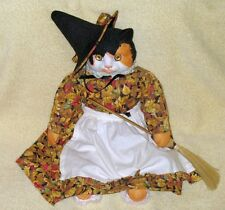 BETTY JUNE CARTER PORCELAIN HALLOWEEN CAT DOLL MUSIC BOX