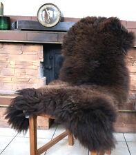 NEU 115cm Braunes Schaffell, Lammfell, sheep skin, Schafsfell