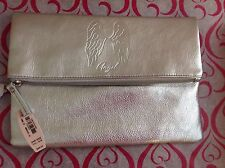 Victoria's Secret Angel Clutch Make Up Bag In Silver Bling ...cute $68 value