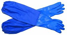 """26"""" Should Length  Long Oil-Resistant PVC Cuff Protective Cotton Lined Gloves"""