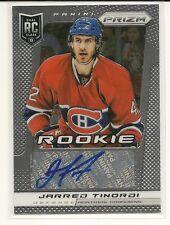 2013-14 Panini Prizm # A-TI Jarred Tinordi Montreal Canadiens Rookie Auto