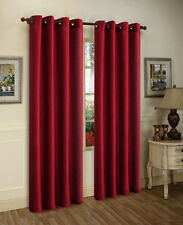 THERMAL GROMMET FOAM LINED 100% BLACKOUT PRIVACY WINDOW CURTAIN DRAPE PANEL