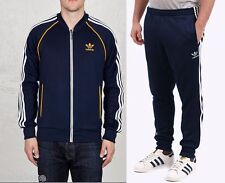 Adidas Originals SUPERSTAR Track Suit Jacket Top CUFFED Pant firebird~Mens sz XL