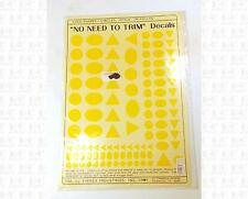 Virnex HO Decals Logo Shapes Medium Yellow 1983 Circles Ovals Triangles