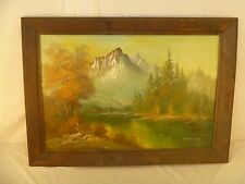 Beautiful Fall Mountain Scene by Searing Oil Painting with Handmade Frame 80406