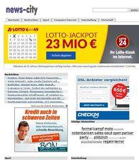 Webprojekt | news-city.de|  Geld verdienen | 16 Jahre alt (ähnlich Google News)